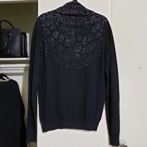 Just Cavalli Sweaters - Men's Animal Print Sweater in Black (XXL)